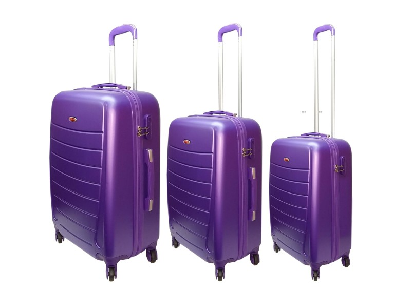 c7a7484bb3b9 HIGHFLYER Mama Series 3 Pc Trolley Hard Luggage Bag Set